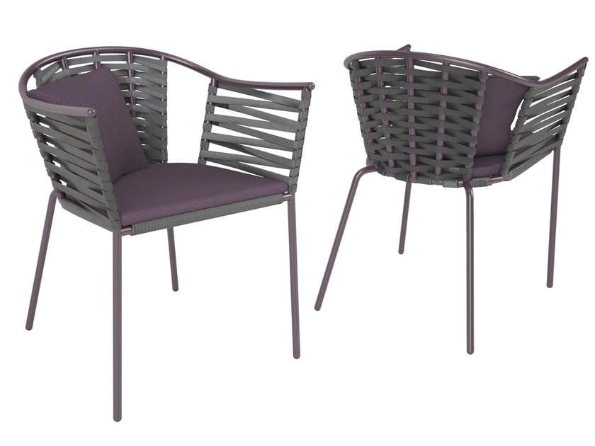 Stackable garden chair with armrests PORTOFINO | Garden chair by Sérénité Luxury Monaco