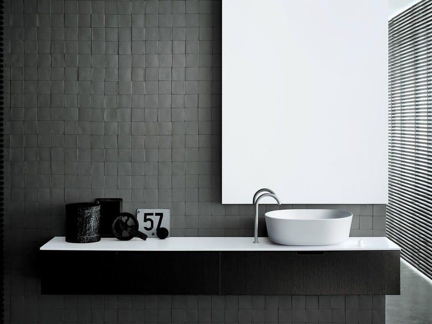 Wall-mounted wood veneer vanity unit DUEMILAOTTO | Wood veneer vanity unit - Boffi