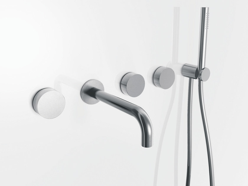 5 hole wall-mounted bathtub set with hand shower AF/21 | 5 hole bathtub set - ABOUTWATER
