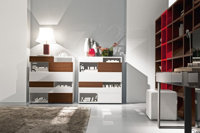 Contemporary style lacquered dresser WING | Lacquered dresser by Presotto