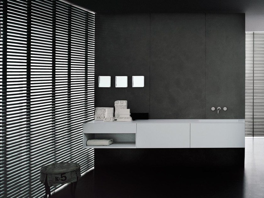 Lacquered wall-mounted vanity unit I FIUMI ST by Boffi