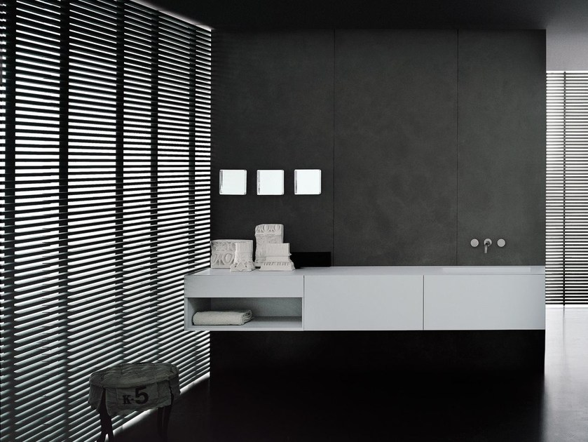 Lacquered wall-mounted vanity unit I FIUMI ST - Boffi