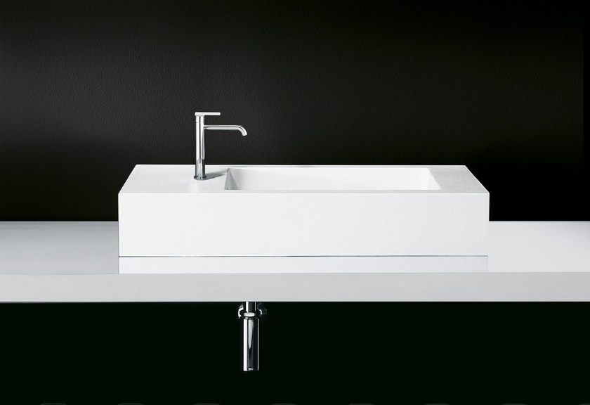 Countertop single Cristalplant® washbasin SOAP 2 - Boffi