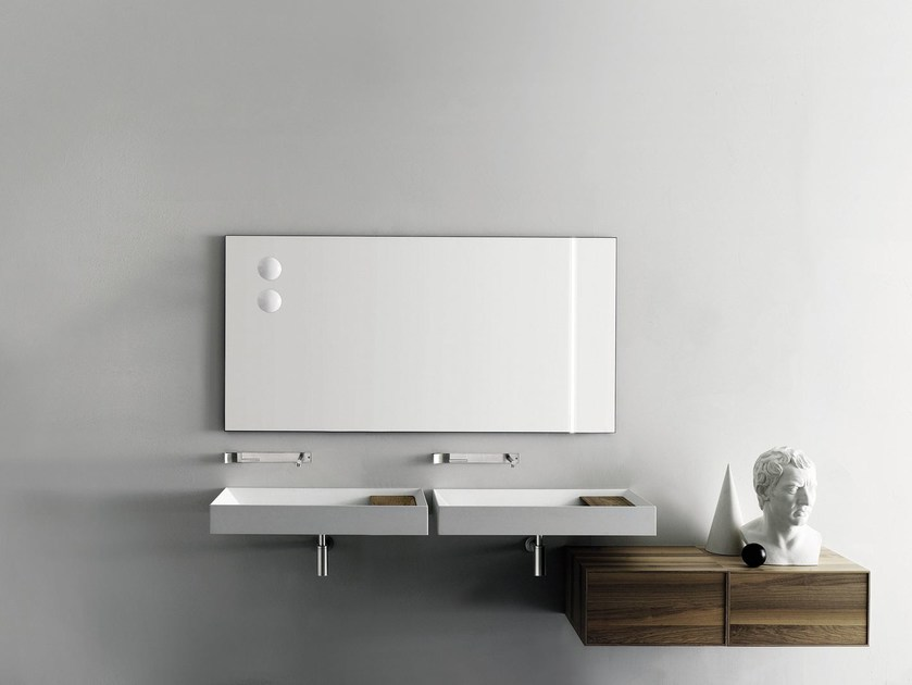 Wall-mounted Cristalplant® washbasin A45 - Boffi