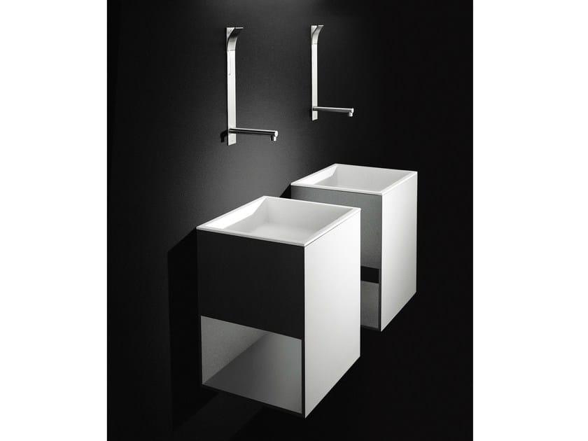 Single wall-mounted Cristalplant® washbasin BOX - Boffi