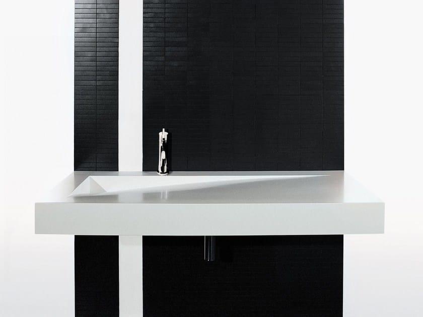 Rectangular Corian® washbasin FOLIO by Boffi