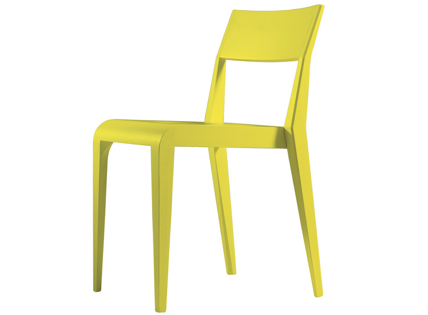 Stackable lacquered ash chair ARAGOSTA | Lacquered chair - BILLIANI