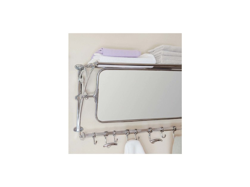 Wall-mounted rectangular bathroom mirror WALLACE | wall mirror and robe hook by GENTRY HOME