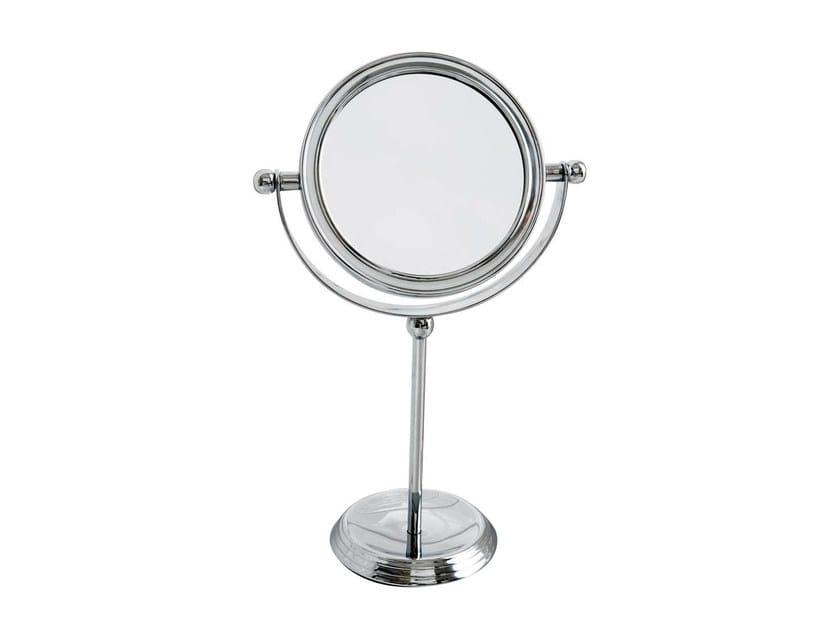 Specchio da appoggio rotondo in stile classico per bagno - Specchio da appoggio ...