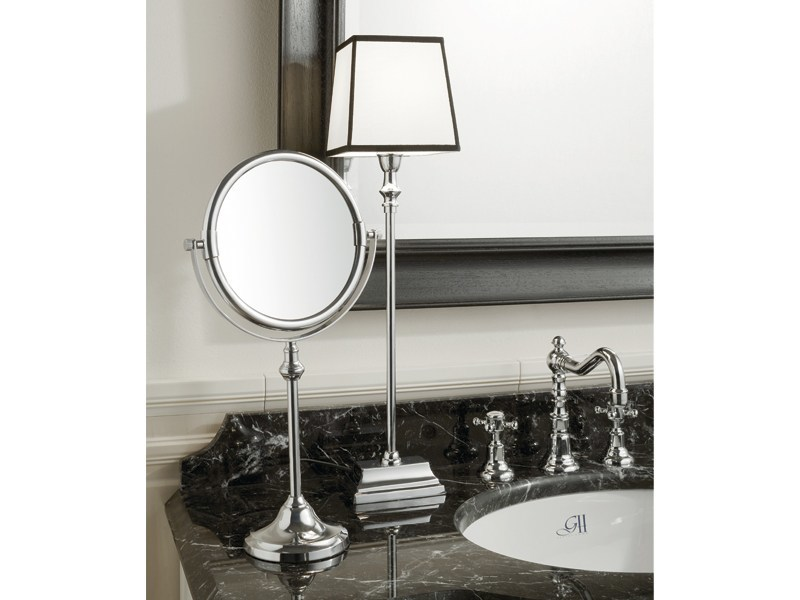 Round countertop shaving mirror KIRK | table mirror - GENTRY HOME