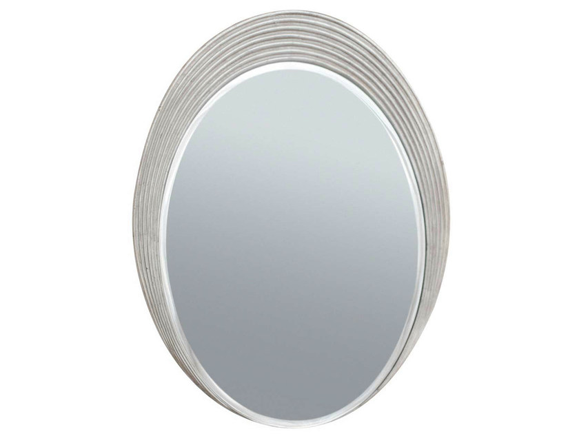 Oval wall-mounted framed mirror ALLISON - GENTRY HOME
