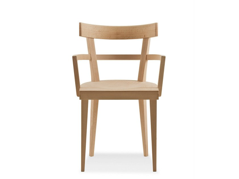 Beech chair with armrests CAFÈ | Chair with armrests - BILLIANI