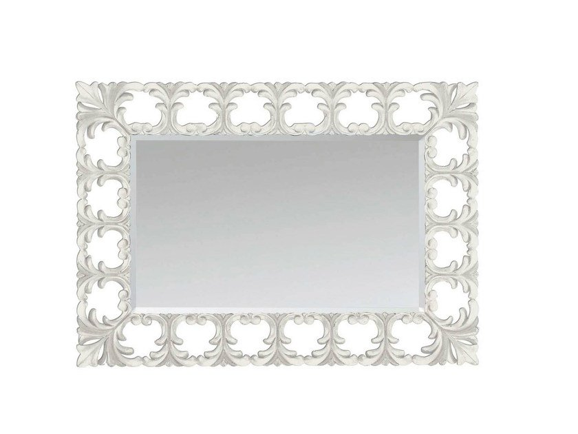 Wall-mounted framed mirror LOTUS MIRROR - GENTRY HOME