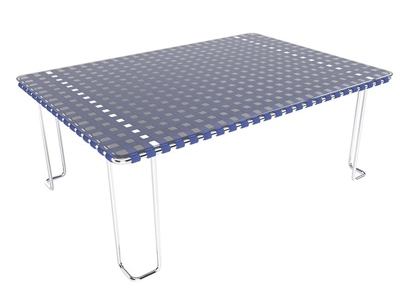 Rectangular Glass and Stainless Steel garden side table MIAMI | Garden side table by Sérénité Luxury Monaco