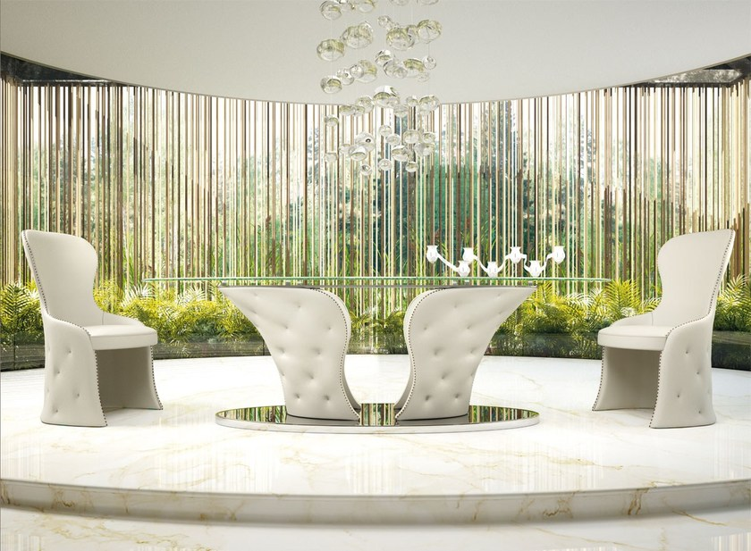 Oval crystal table PRINCE by Formenti