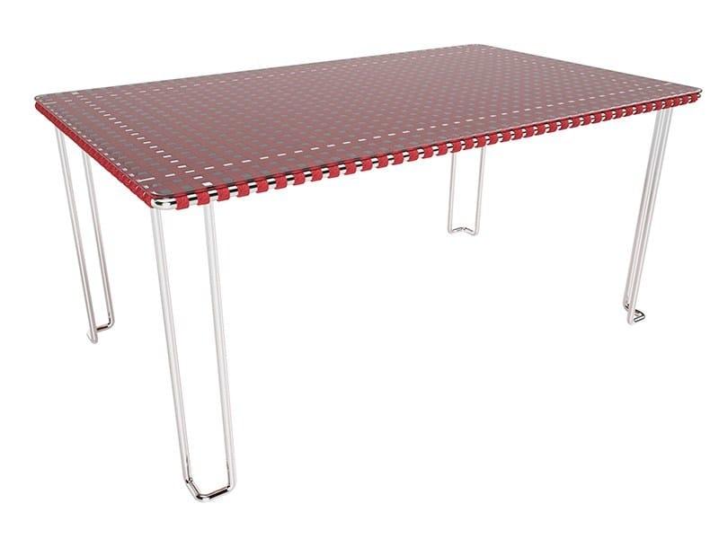 Glass and Stainless Steel garden table MIAMI | Garden table - Sérénité Luxury Monaco