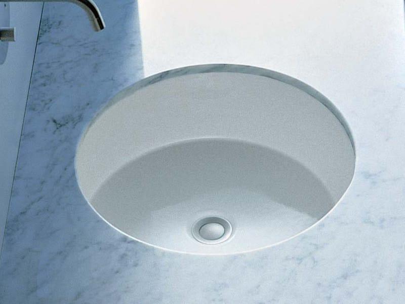 Lavabo da incasso sottopiano in ceramica twin set 42 for Flaminia lavabi