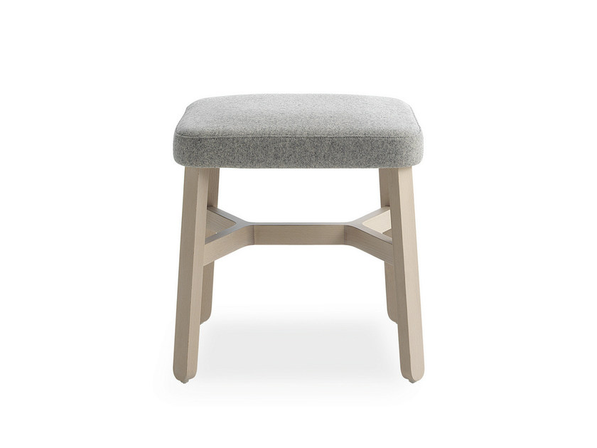 Upholstered fabric stool CROISSANT | Stool by BILLIANI