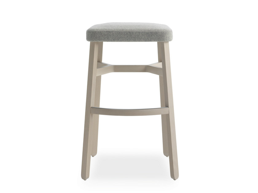 High upholstered fabric stool CROISSANT | High stool - BILLIANI