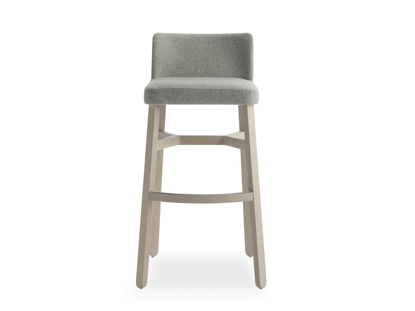 Upholstered fabric counter stool CROISSANT | Counter stool - BILLIANI