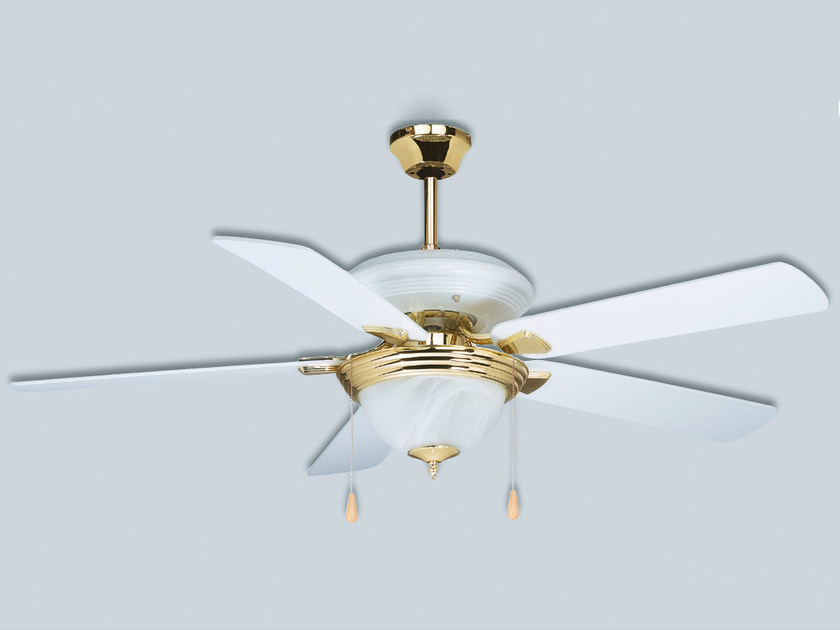 Ceiling fan with integrated lighting HTD/HTL by S & P Italia