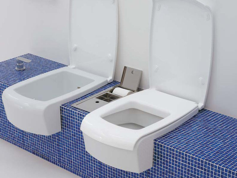Ceramic toilet UNA | Toilet by CERAMICA FLAMINIA