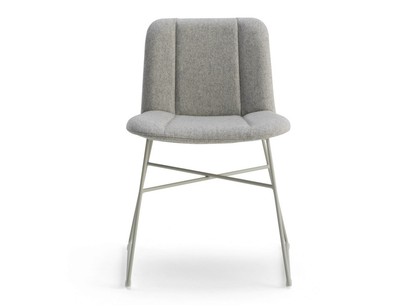 Sled base fabric chair HIPPY | Sled base chair - BILLIANI