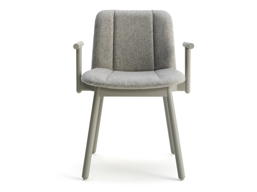 Fabric chair with armrests HIPPY | Chair with armrests - BILLIANI