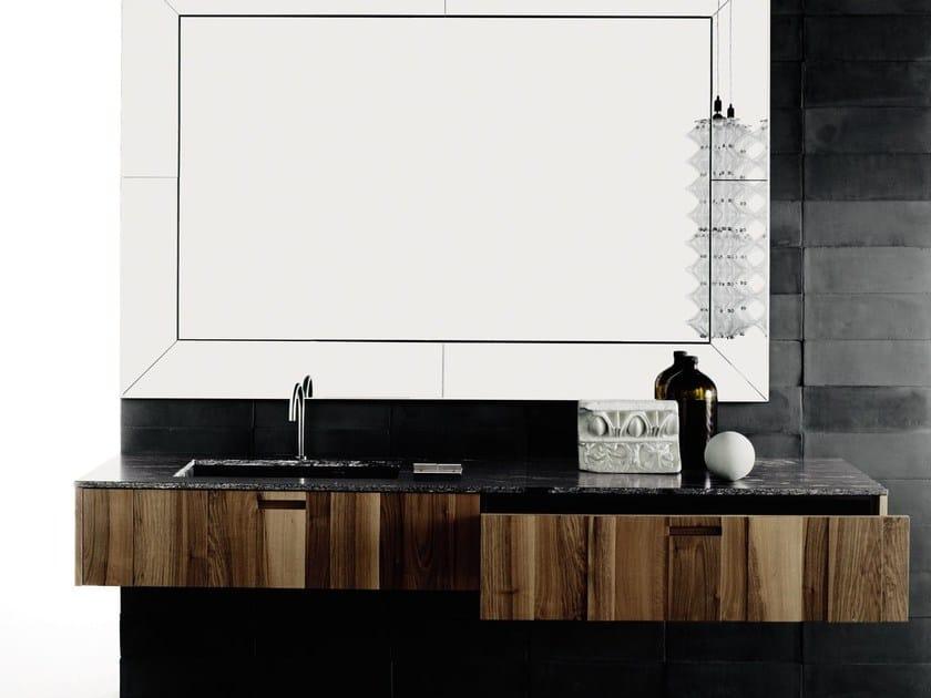 Wood veneer vanity unit with drawers PROGRAMMA STANDARD - Boffi