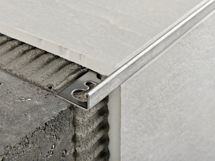 Brushed steel Step nosing PROTERMINAL | Brushed steel Step nosing - PROGRESS PROFILES