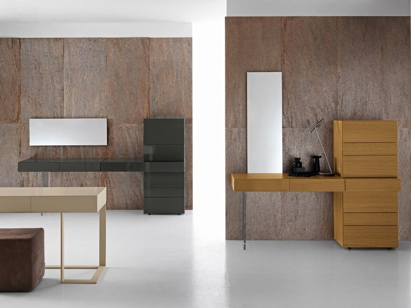 Lacquered wooden console table with drawers SWING - Presotto Industrie Mobili