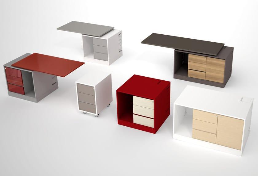 Wooden office drawer unit LOOP | Office drawer unit - ESTEL GROUP
