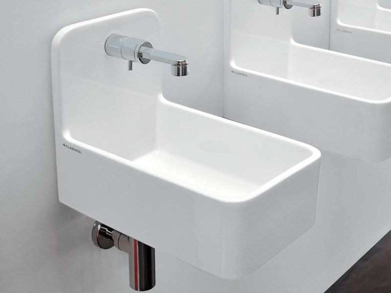 Wall-mounted ceramic handrinse basin MINIWASH | Handrinse basin - CERAMICA FLAMINIA