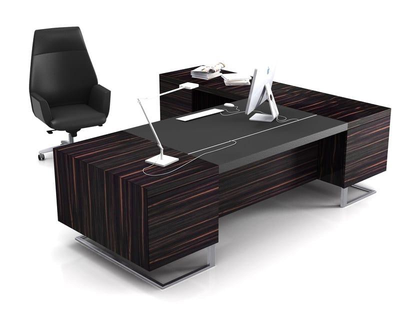 Rectangular wooden executive desk DECK LEADER | Executive desk - ESTEL GROUP