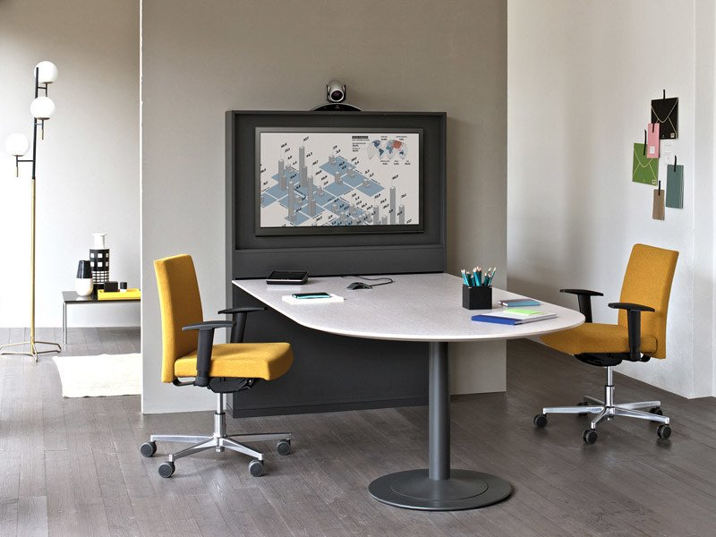 Multiple office workstation FRAME MINI MEETING - ESTEL GROUP