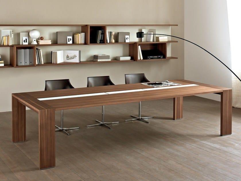 Rectangular wooden meeting table LOOP IN | Meeting table - ESTEL GROUP