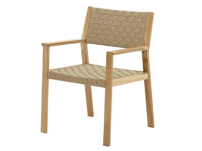 Garden chair with armrests MAZE | Garden chair - Gloster