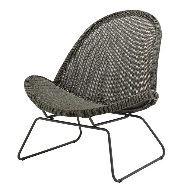 Sled base garden armchair BEPAL | Easy chair by Gloster