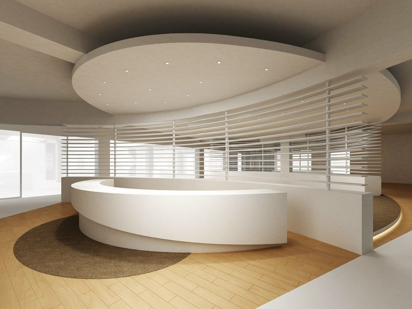 Solid Surface® Reception desk AVONITE | Reception desk - Avonite Surfaces By Aristech Surfaces