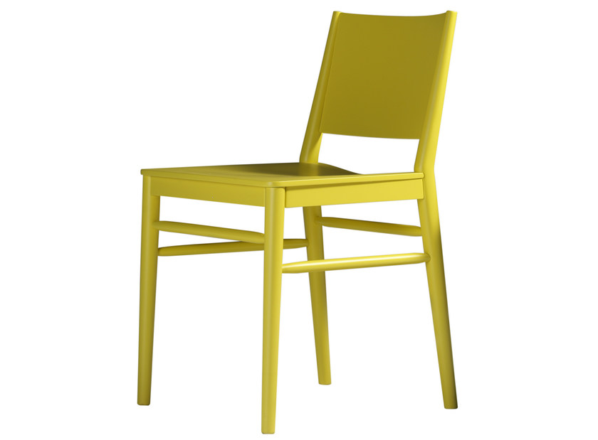 Lacquered beech chair TRACY | Lacquered chair - BILLIANI