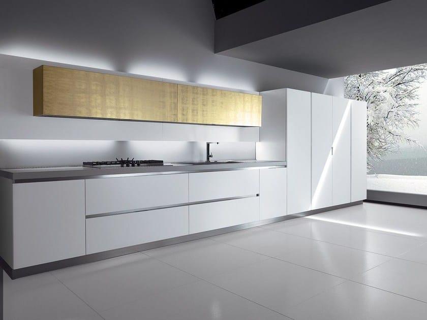 Cuisine lin aire modulable sans poign es venezia by biefbi for Cuisine lineaire 3 metres