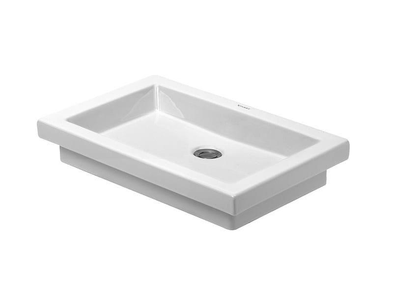 Lavabo da incasso soprapiano in ceramica 2nd floor lavabo da incasso soprapiano duravit - Accessori bagno in ceramica da incasso ...
