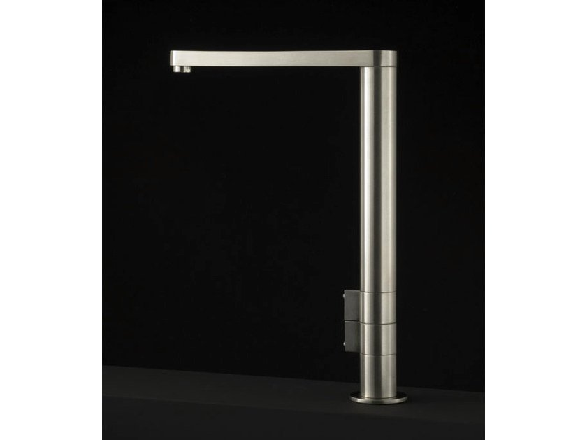 Contemporary style stainless steel washbasin tap W1 | Stainless steel washbasin tap - Boffi