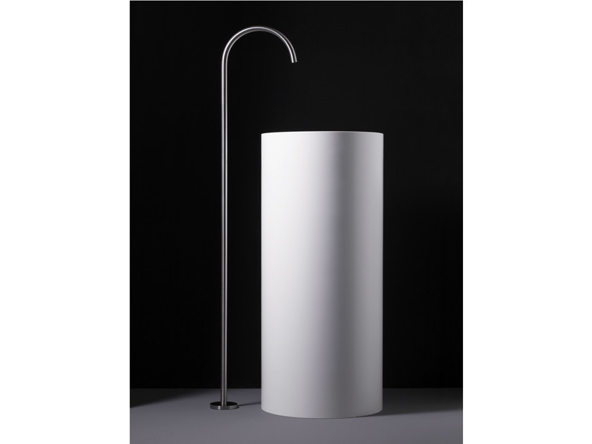 Floor standing stainless steel washbasin tap WINGS | Floor standing washbasin tap by Boffi