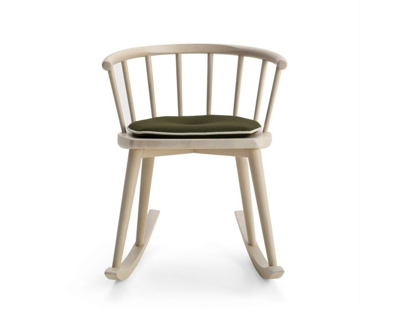 Rocking beech chair with armrests W. | Rocking chair by BILLIANI