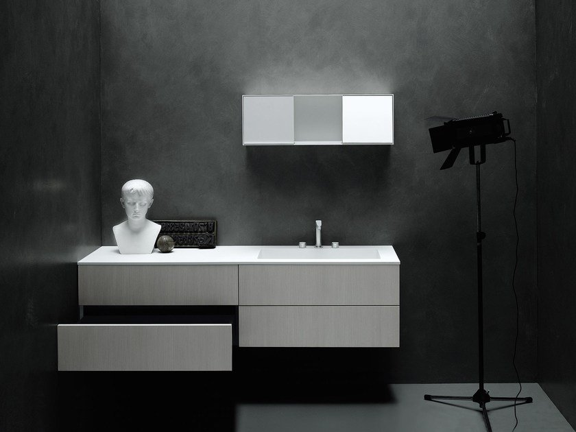 Wall-mounted vanity unit with drawers SIMPLE - Boffi