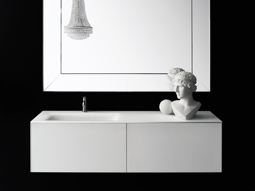 Single wall-mounted glass vanity unit SOHO - Boffi
