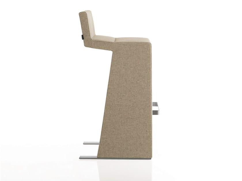 Upholstered fabric counter stool INKA STEEL P 300 ST SS - BILLIANI