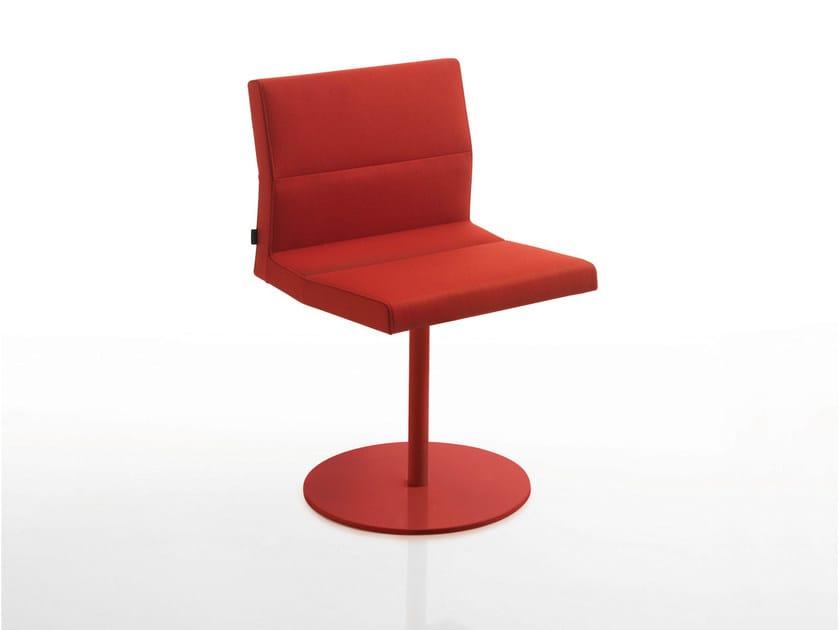 Swivel upholstered fabric chair INKA STEEL A 100 ST BG - BILLIANI