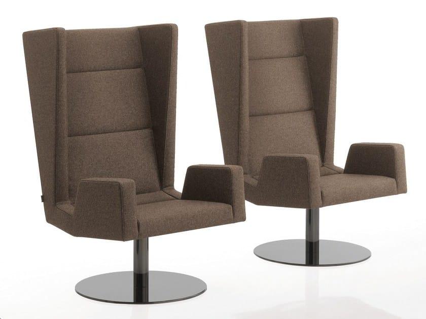 Swivel upholstered fabric armchair INKA STEEL S 200 ST BG - BILLIANI